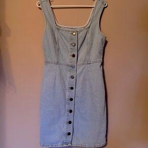 Urban Outfitters denim button-up mini dress